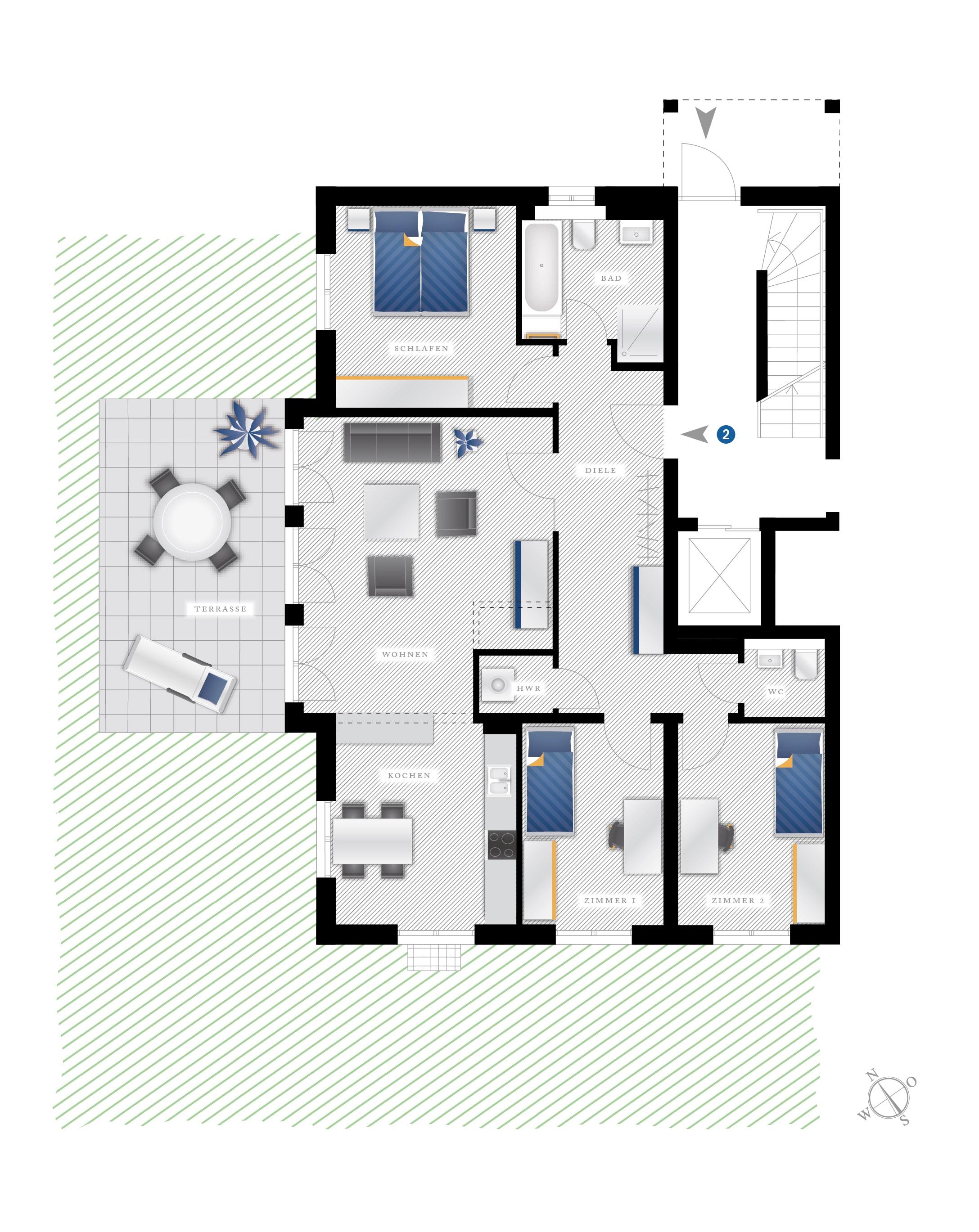 Grundriss Eigentumswohnung Eichstraße 10 – WE02