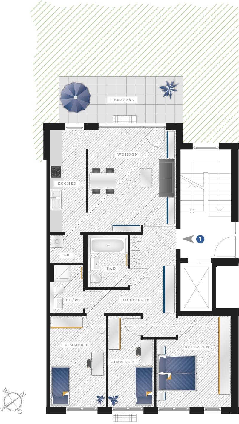 Grundriss Eigentumswohnung Zwickauer Str. 122 – Wohnung 01