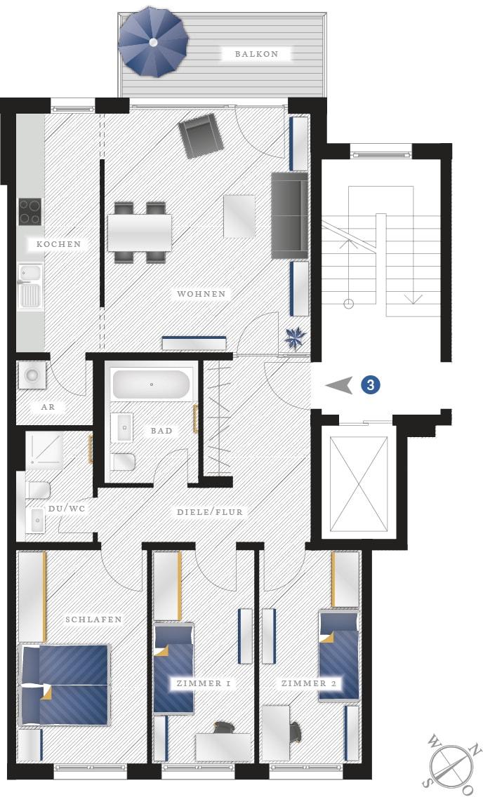 Grundriss Eigentumswohnung Zwickauer Str. 122 – Wohnung 03