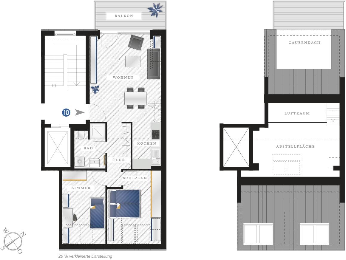 Grundriss Eigentumswohnung Zwickauer Str. 122 – Wohnung 10