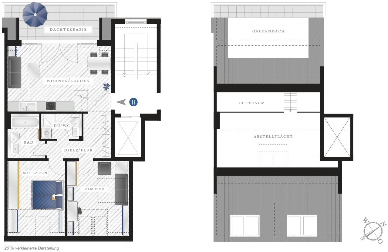 Grundriss Eigentumswohnung Zwickauer Str. 122 – Wohnung 11