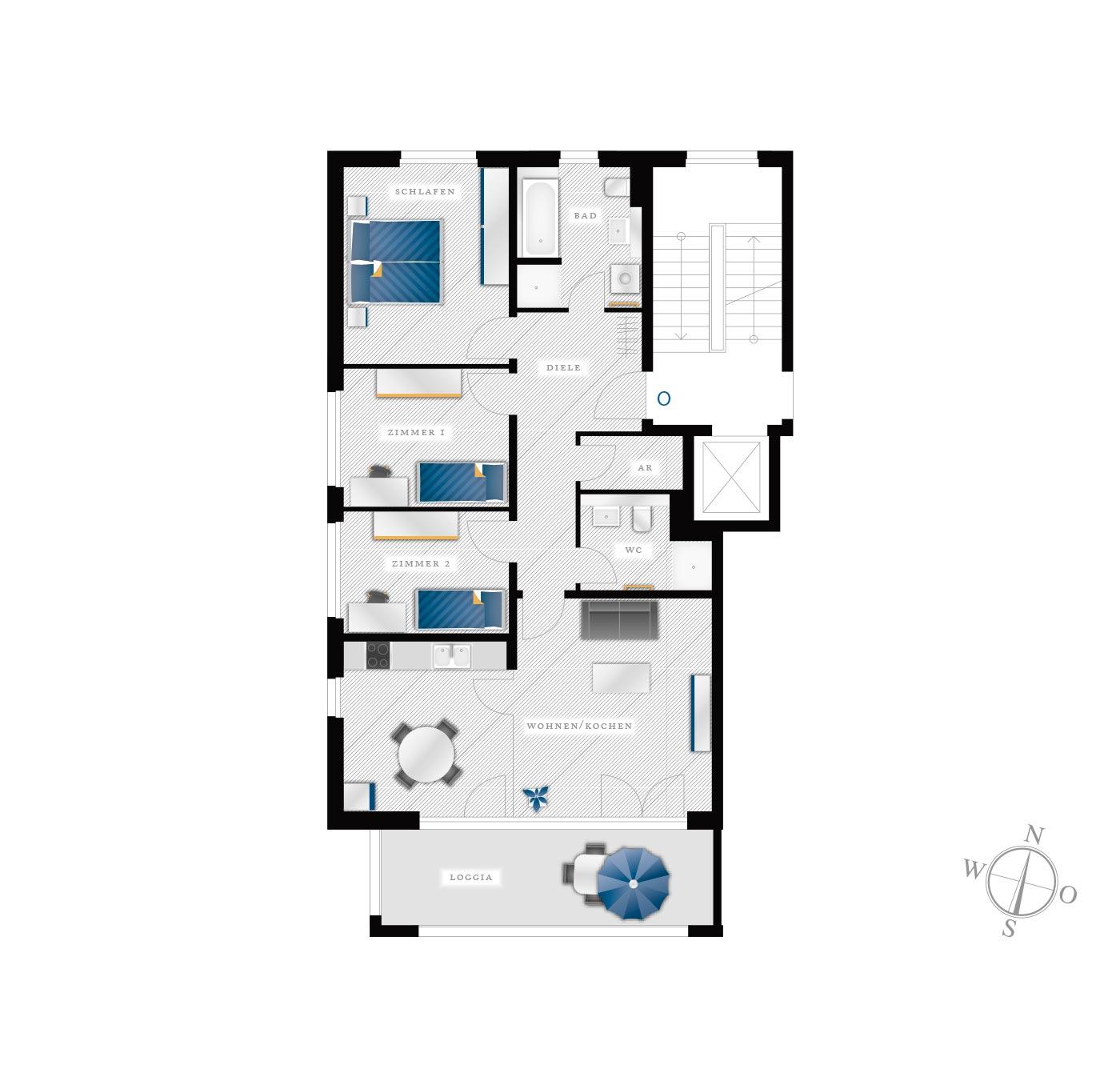 Grundriss Eigentumswohnung Kötzschenbroder  Strasse 24 – Nr 15