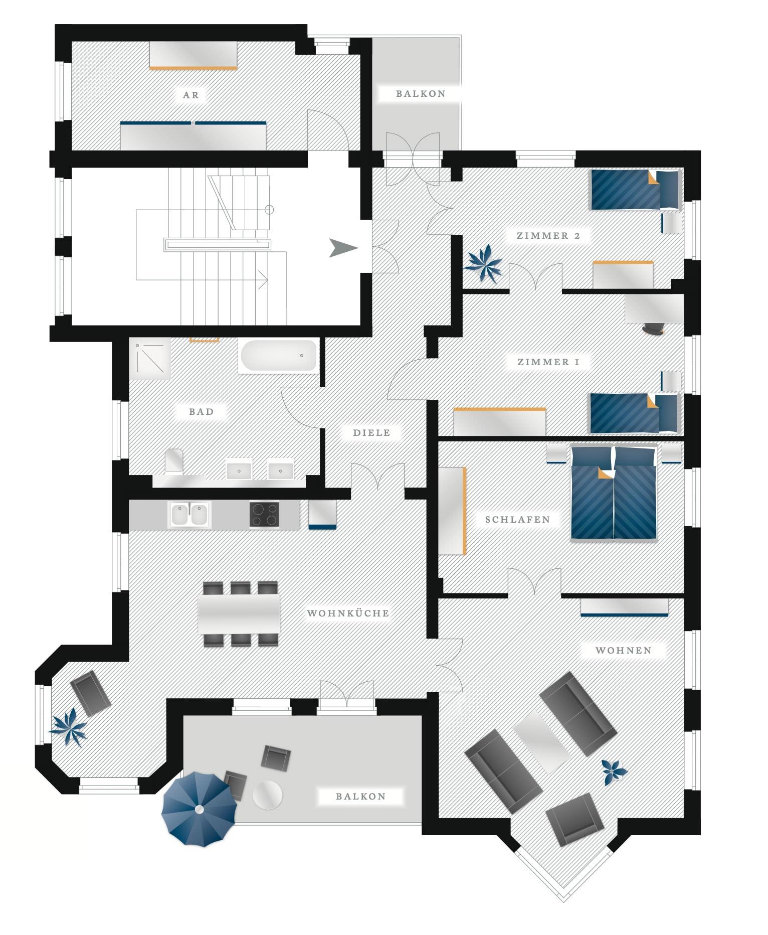 Grundriss Eigentumswohnung Kötzschenbroder Strasse 26 – Nr 2