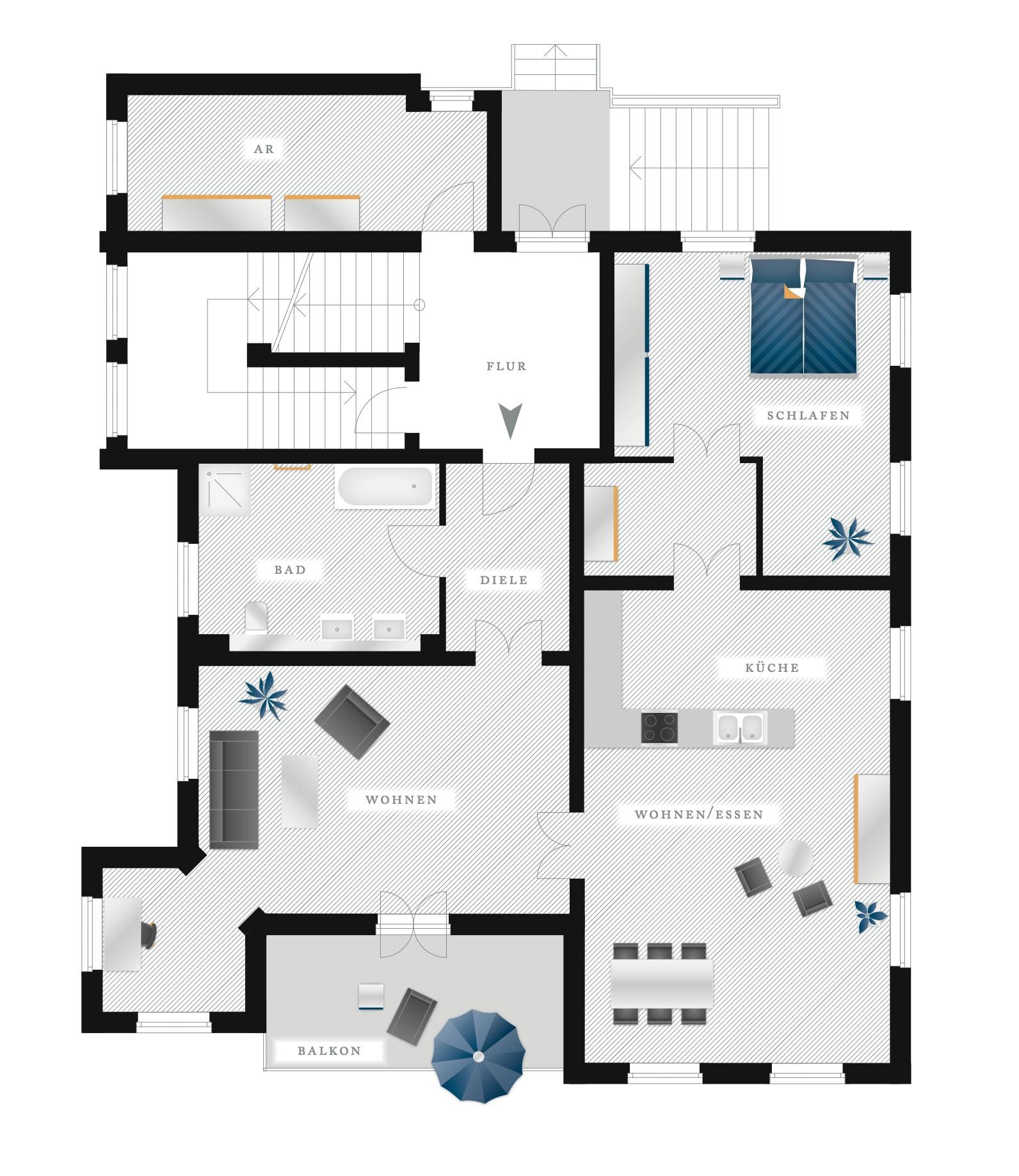 Grundriss Eigentumswohnung Kötzschenbroder Strasse 26 – Nr 1