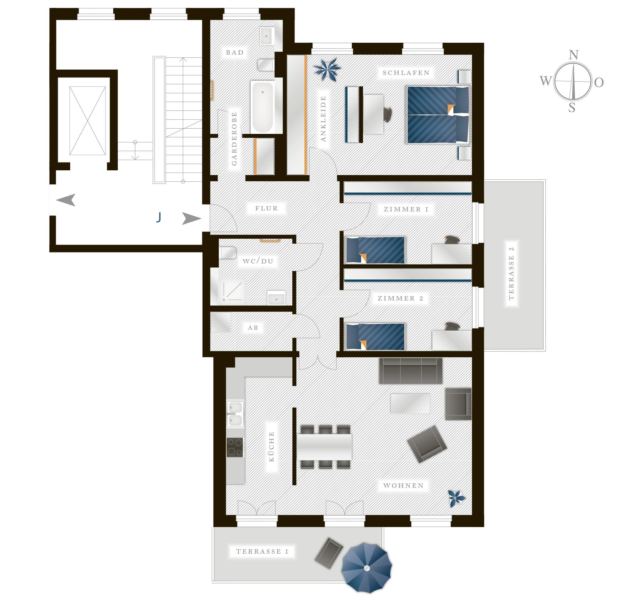 Grundriss Eigentumswohnung Theresienstraße 16 – Nr 10
